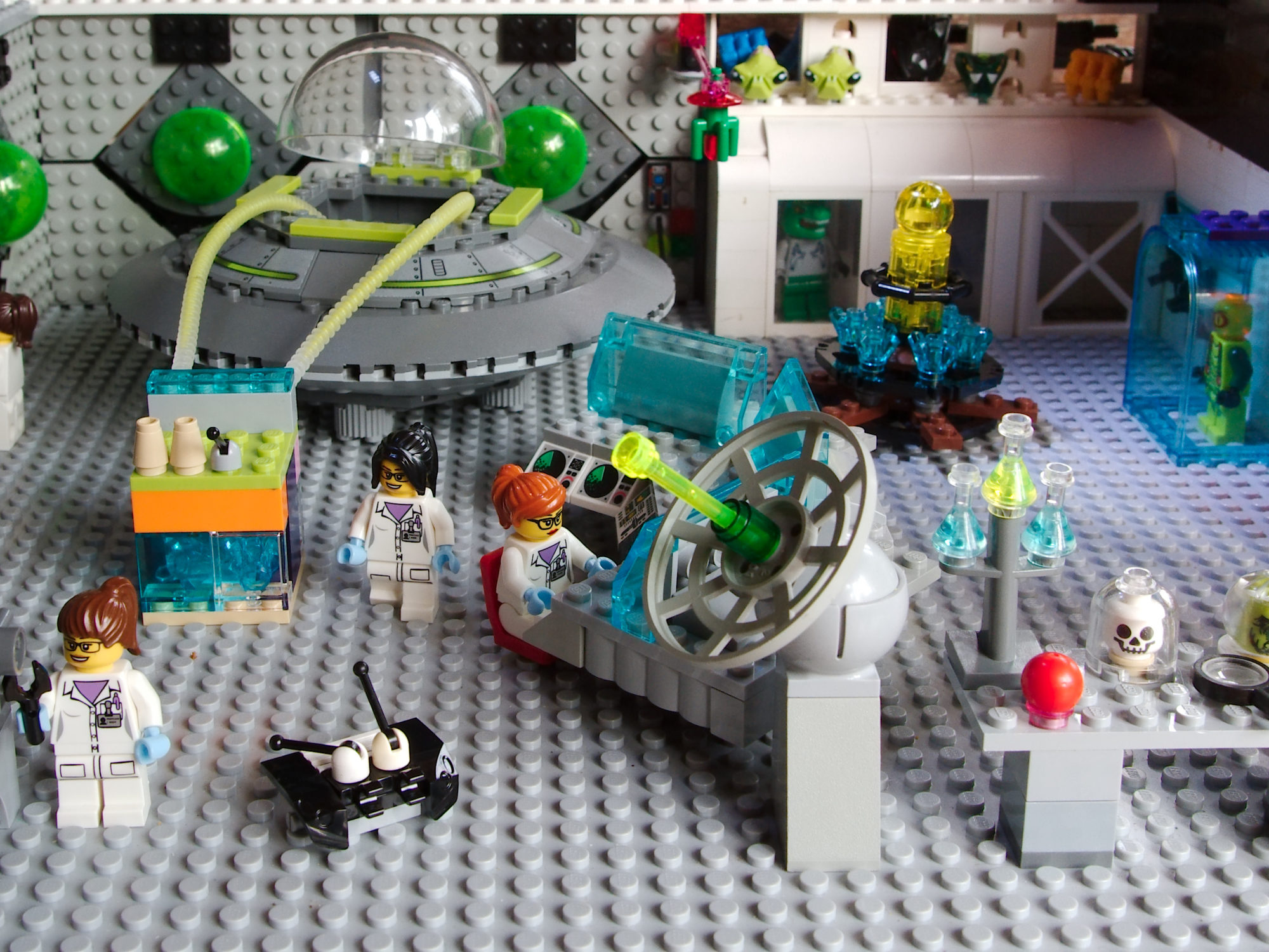 Lego pieces in laboratory